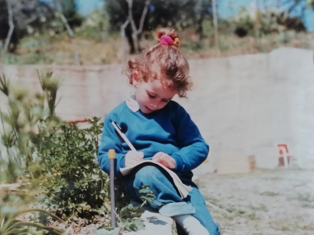Azzurra Sichera da bambina